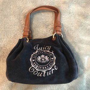 Juicy Couture blue and brown purse